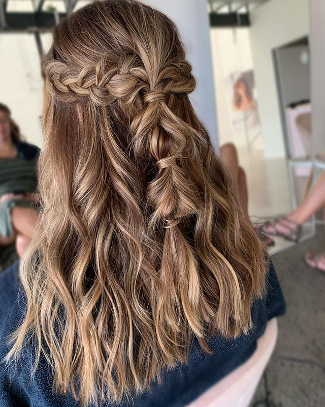 Boho braided half up style for a lovely