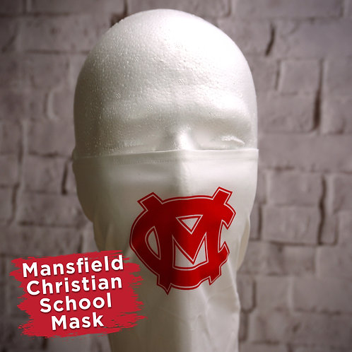 Mansfield Christian Logo Only Face Covering Gaitor