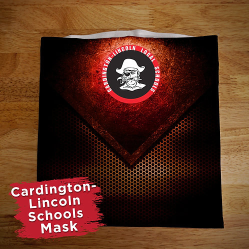 Cardington Black and White Full Color Face Covering Gaitor