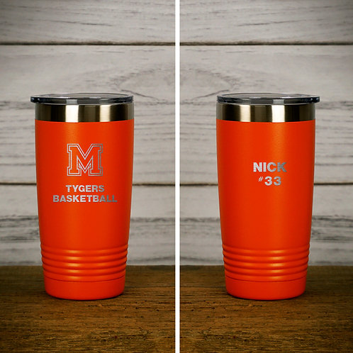 Personalized 20 oz Stainless Steel Insulated Ringneck Tumbler