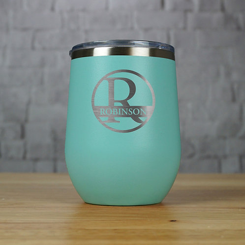 Circular Split Monogram and Name Tumbler