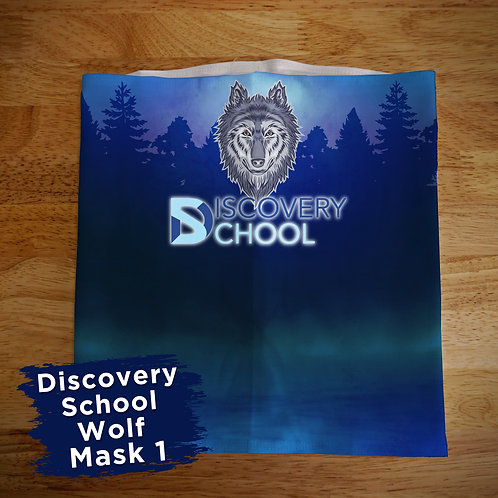 Discovery School Full Color Face Covering Gaitor