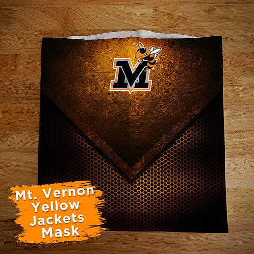 Mt. Vernon Yellow Jackets Full Color Face Covering Gaitor