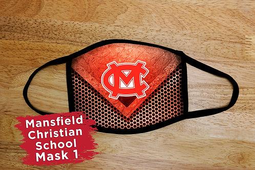 Mansfield Christian School Logo Mask 1