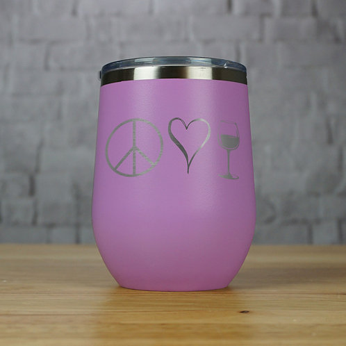 Peace, Love, and Wine Tumbler