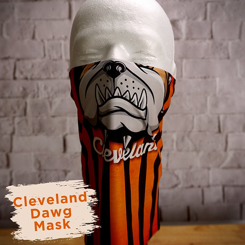 Cleveland Dawg Full Color Face Covering Gaitor