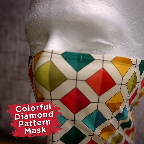 Colorful Diamond Pattern Face Covering Gaitors
