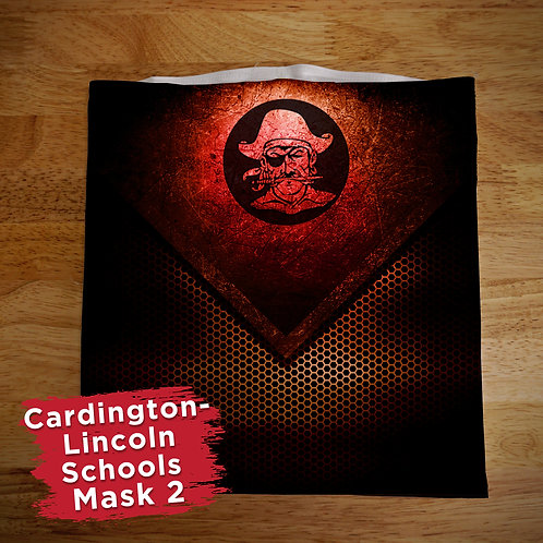 Cardington Black and Red Full Color Face Covering Gaitor