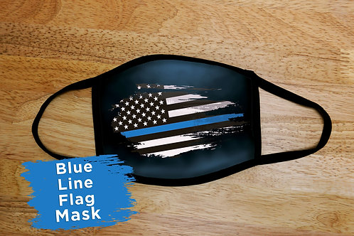 Thin Blue Line Flag Mask