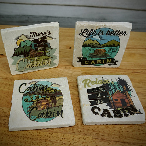 Relax You're at the Cabin Coaster Set