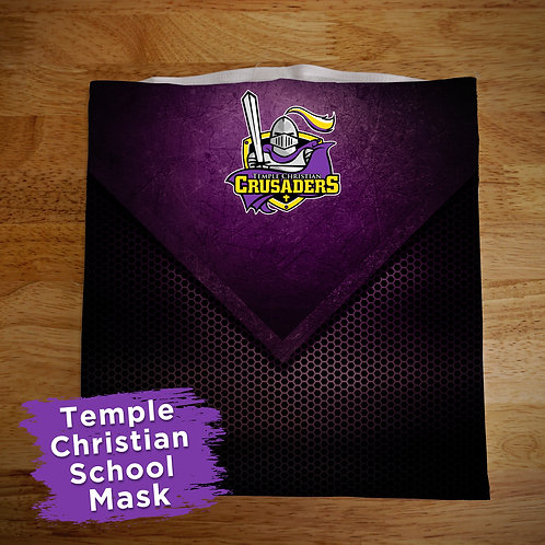 Temple Christian Full Color Face Covering Gaitor