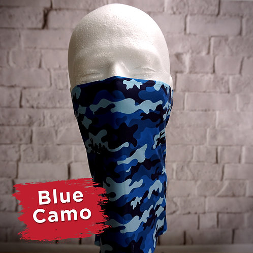Blue Camo Face Covering Gaitors