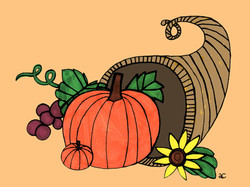11-031 Cornucopia With Pumpkin - Re-do