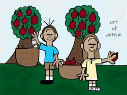 Picking Apples - web