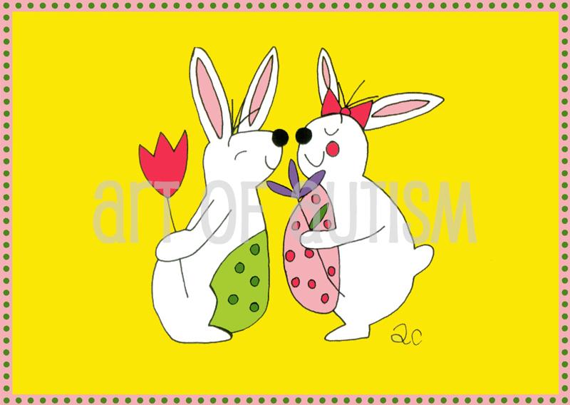 10-011Boy & Girl Bunny