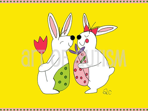 10-011 Boy & Girl Bunny