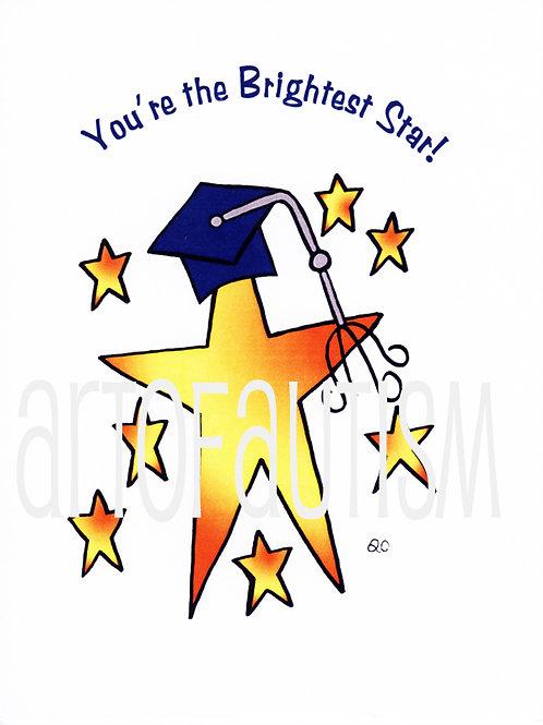 11-0 Graduation Blue Star
