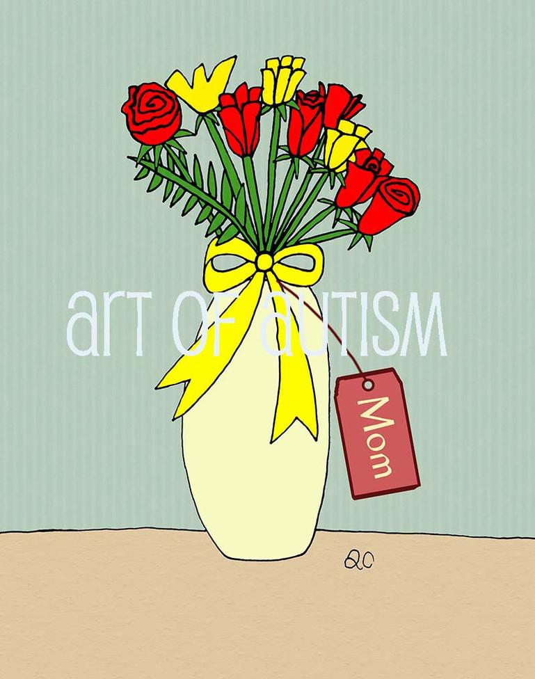 11-020 Vases of Roses