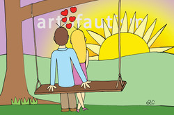 16-004 Couple On Swing