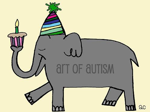 21-002 Elephant Birthday