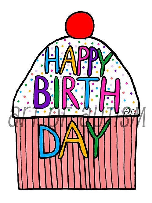 19-009 Birthday Cupcake