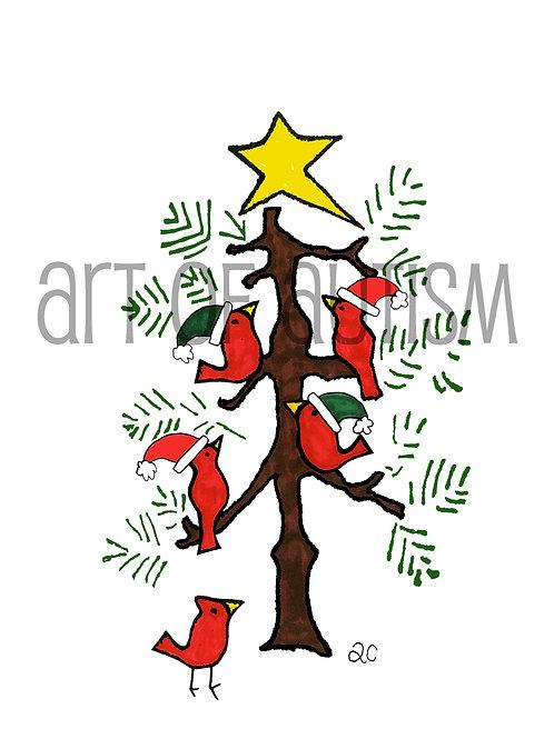 13-022 Bird Christmas Tree