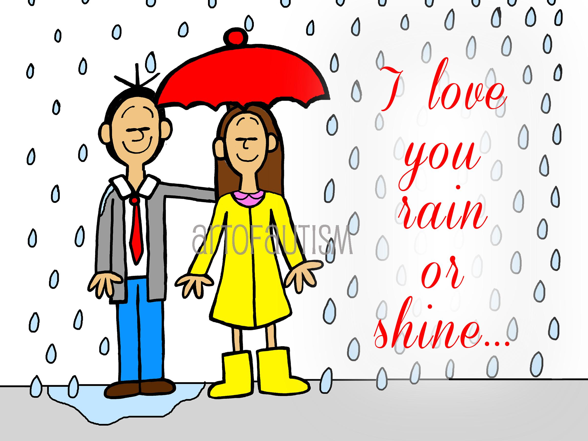 15-002 Rainy Couple