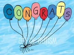 19-018 Balloon Congrats