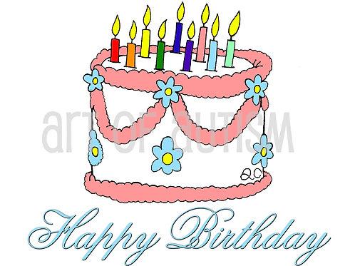 12-015 Birthday Cake