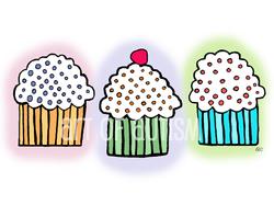 20-002 3 Cupcakes