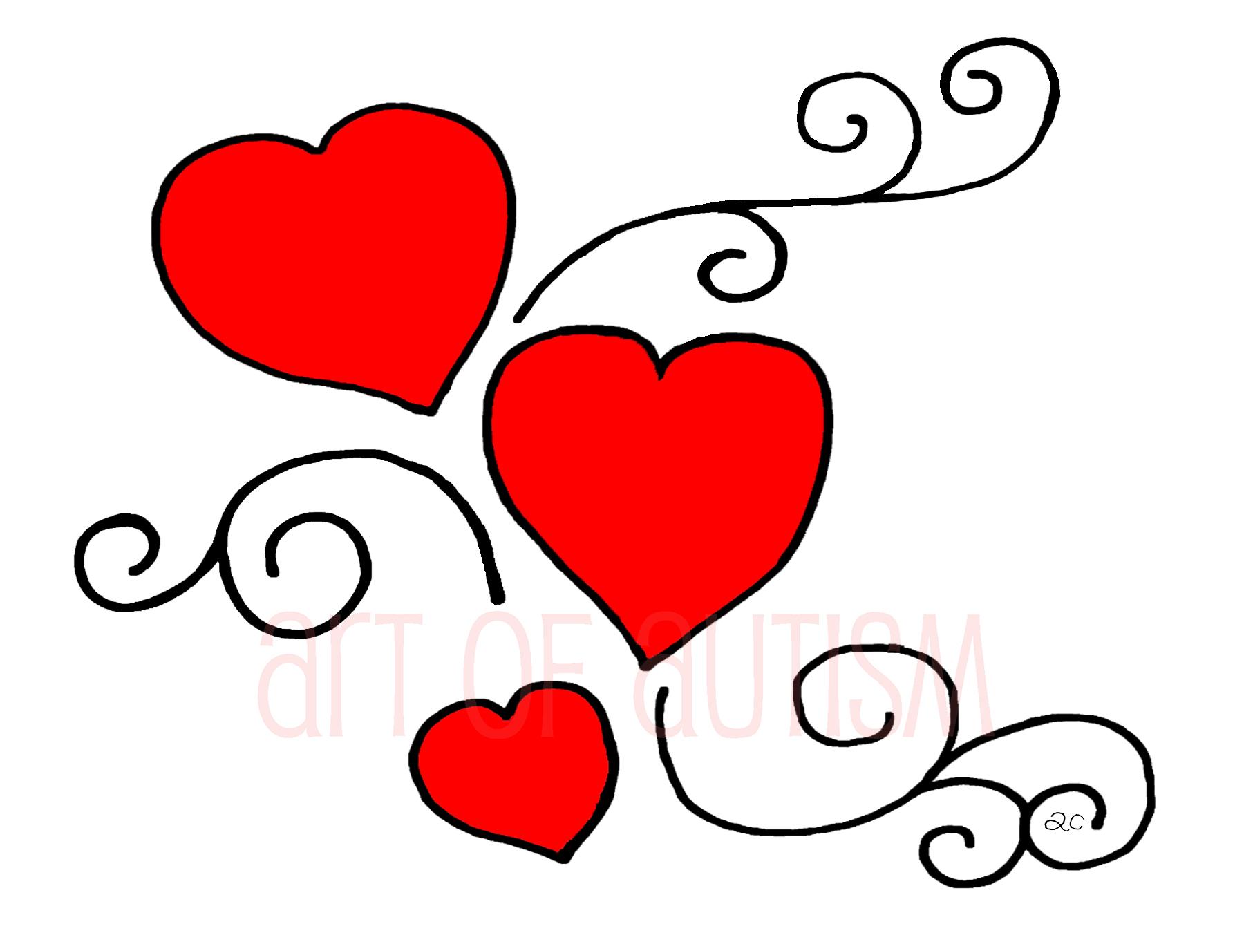 17-001 Heart Swirl