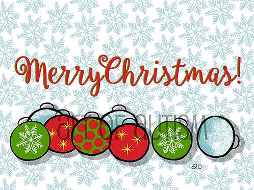17-017 Christmas Bulbs