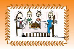 12-024 Thanksgiving Table border