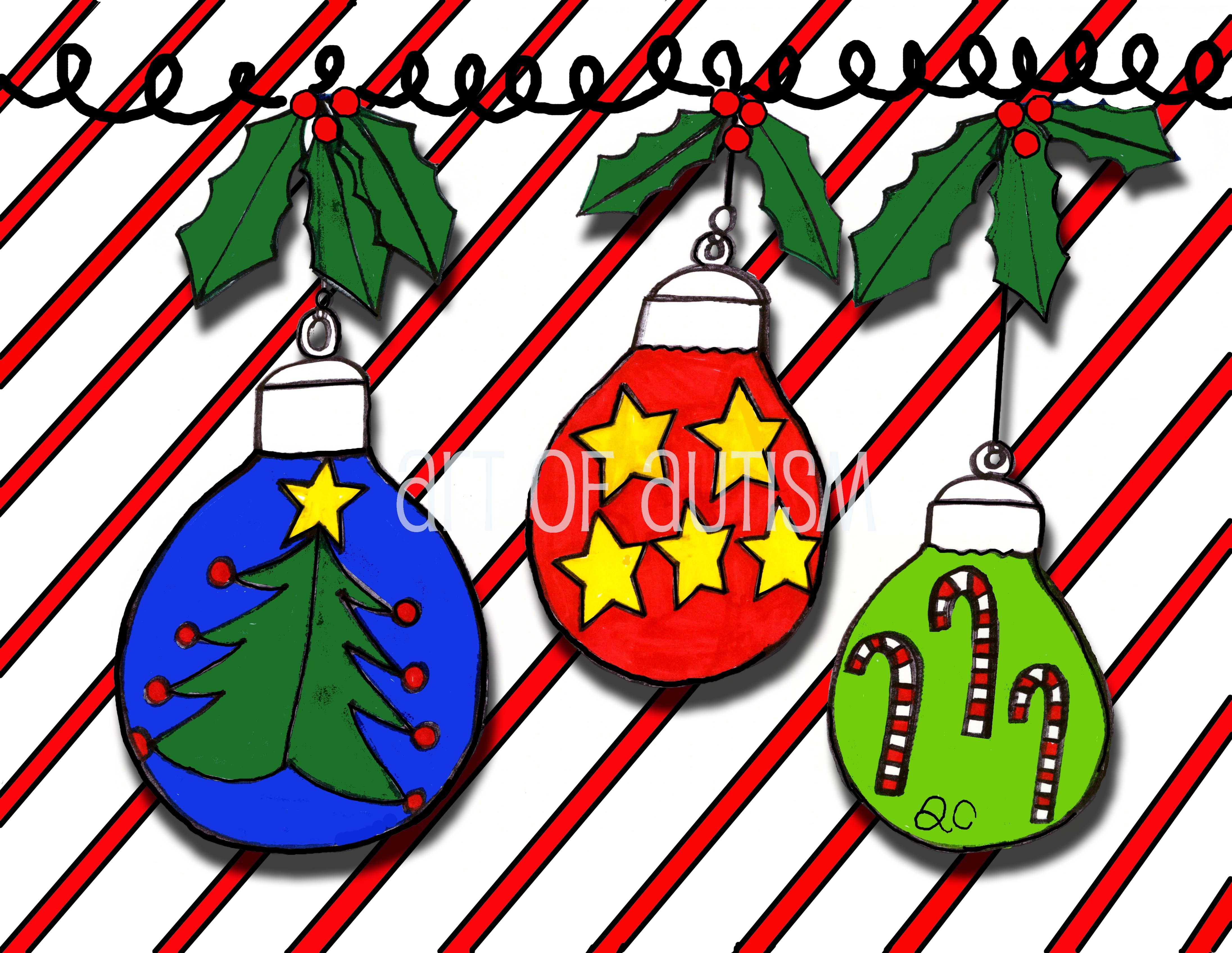 12-026 Three Ornaments