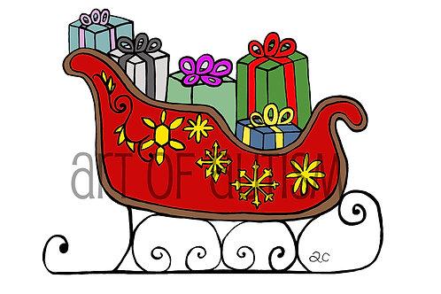 15-032 Santa Sleigh
