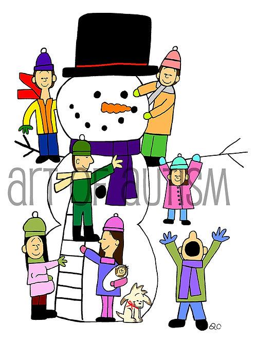 18-019 Christmas Snowman