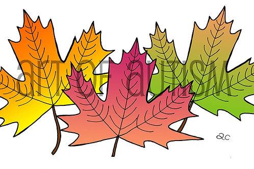 15-022 Leaf Collage