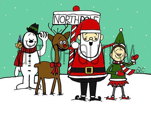 13-028 Santa Friends