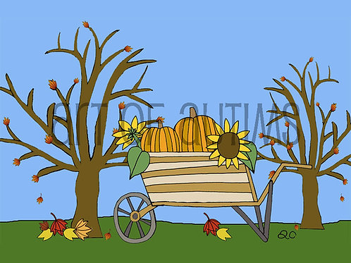 19-016 Pumpkin Cart