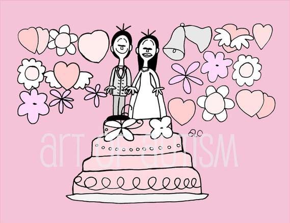 11-023 Wedding Cak eBride & GroomPink-web.jp