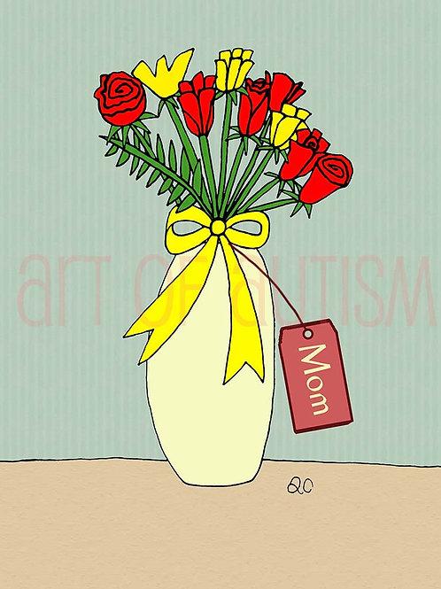 11-020 Vase of Roses