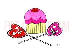 11-001 Be Mine Cupcake