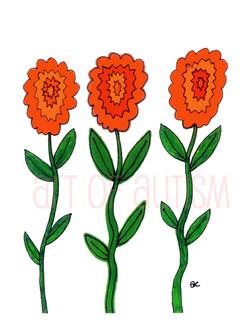 09-011 Orange Flowers