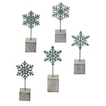 Snowflake Photo Clips - 40% off