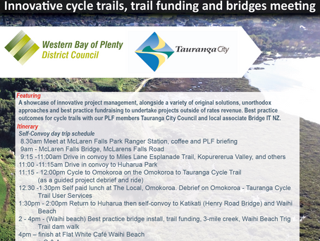 PLF Meeting: Bay of Plenty Cycle Trails Tour