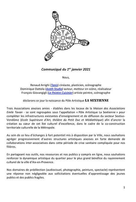 Communique def_ def_LA SEXTIENNE_210101-