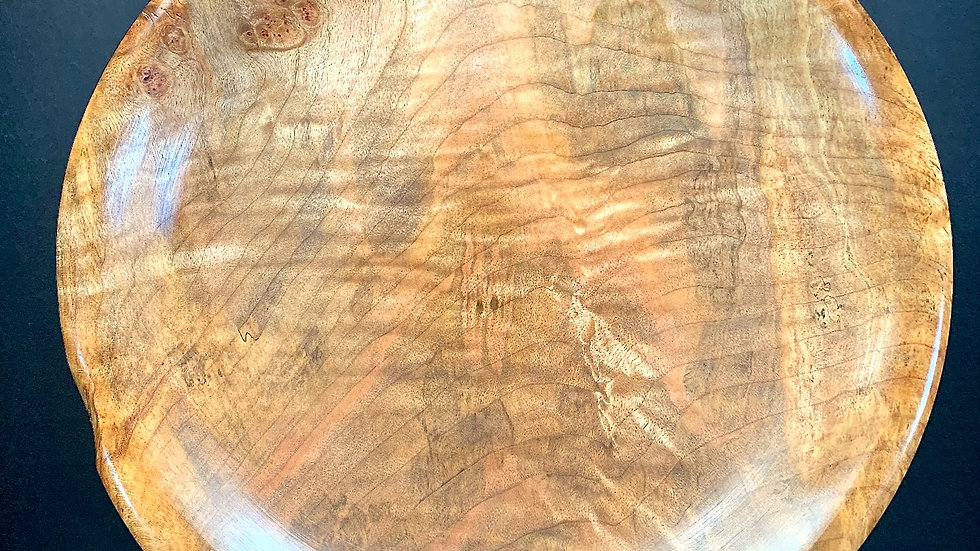 Item 4-24: Spalted Red Maple Burl Plate
