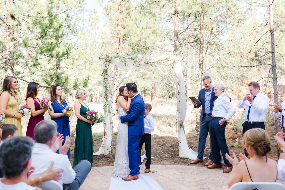 Wedding ceremony in Sunriver Oregon