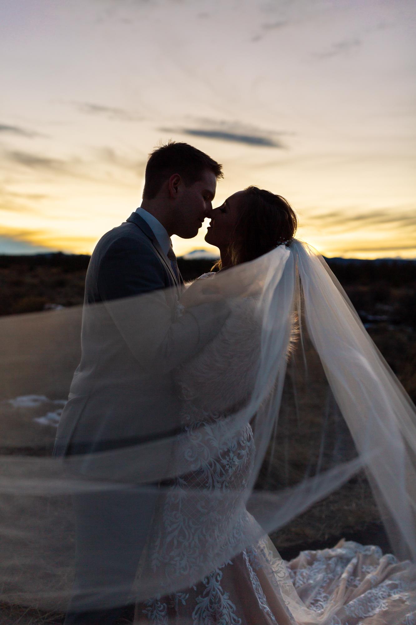 Shevlin Park Wedding Bend Oregon Sunset