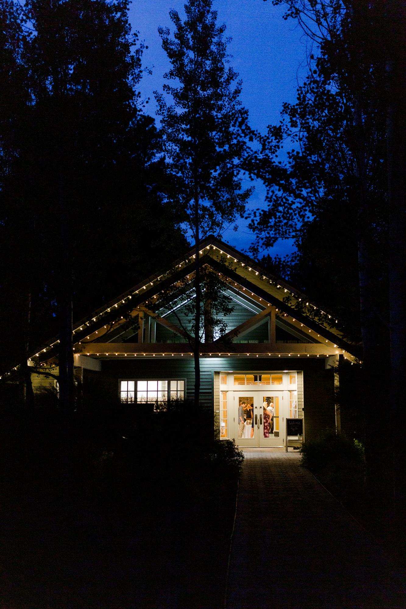 Aspen Hall at night